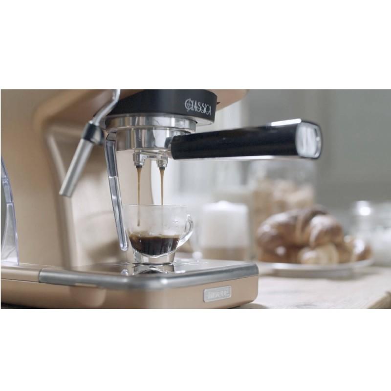 Espressor manual Ariete Classic, 1389 Bronz, Sistem cappuccino, 15 Bar